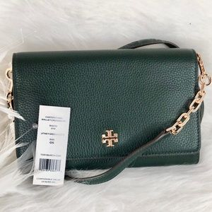 New Tory Burch Carter Chain Wallet Crossbody